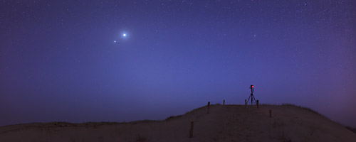 Venus and Jupiter in the twilight