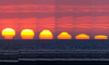 Sequence of a setting Sun
